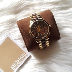 Michael Kors Slim Runway Round Two-Tone Watch!